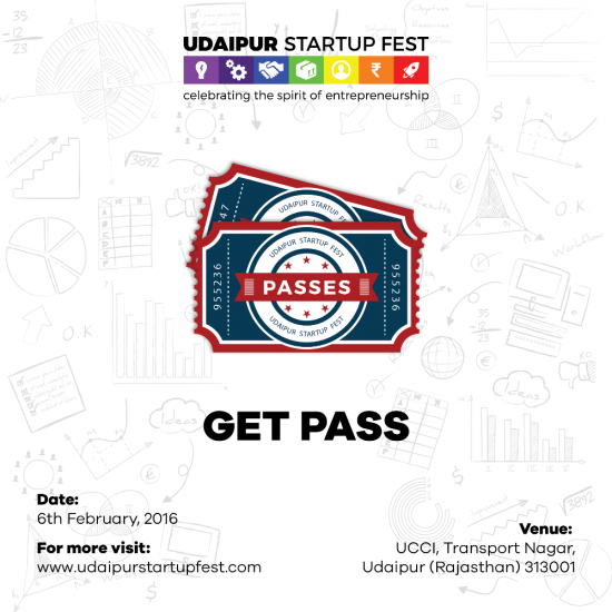 Get Passes of Udaipur Startup Festival
