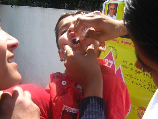 Polio Sunday at polio booth