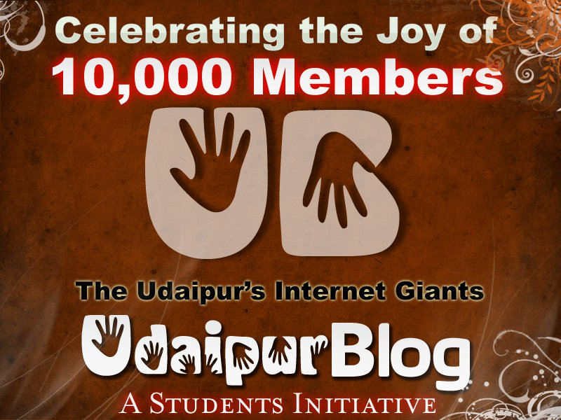 10000 Members on UdaipurBlog