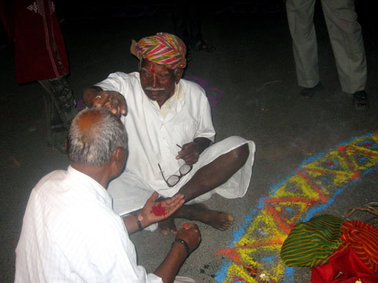 Eldest member of the Village performing the Rituals