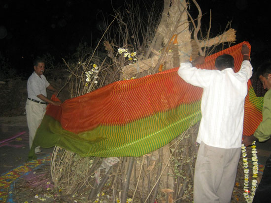 Holika Dehen Rituals being performed