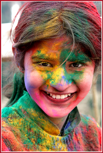 safe holi girl