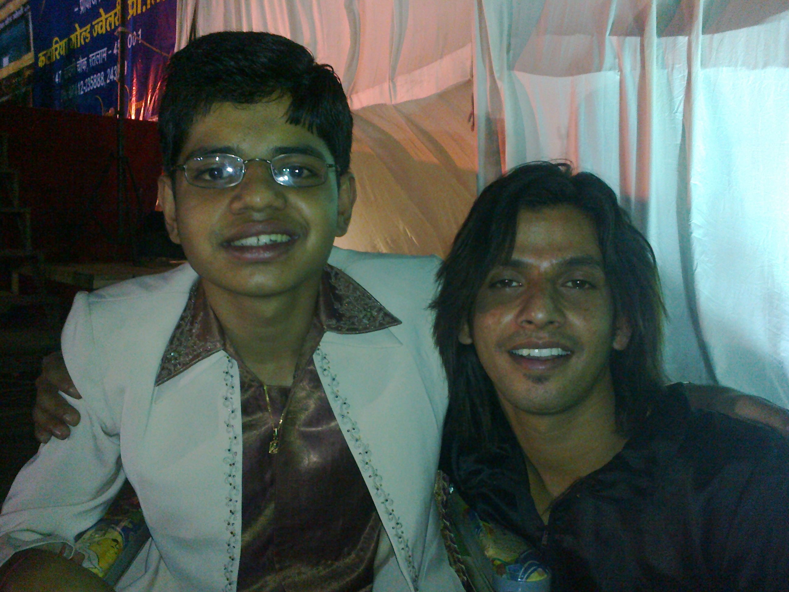 Bharat verma with Jay chaniyara (Laughter challenge contestant)