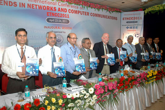 Book Launch by the honourable guests at ETNCC-2011