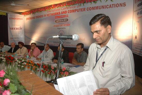 Dr. Dharm Singh giving the report at ETNCC 2011