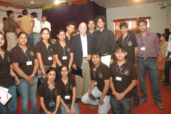 Prof. Sorel with Team of Volunteers and Participants from Techno India NJR Institute of Technology | ETNCC-2011