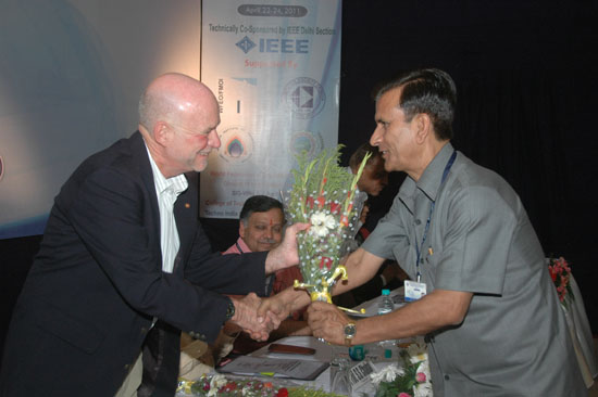 Dr. Bhatt Welcoming Prof Sorel at ETNCC 2011