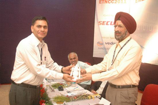 Dr. Dharm Singh presenting a souvenir to Prof. S.S. Chahal | ETNCC 2011