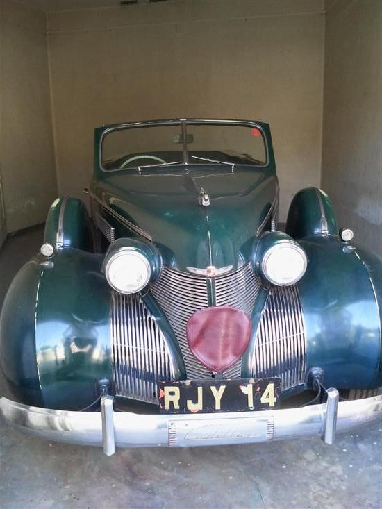 Name of Car: Cadillac -- Model: 5 Seater Conv. Sedan -- Year of Mfd: 1938