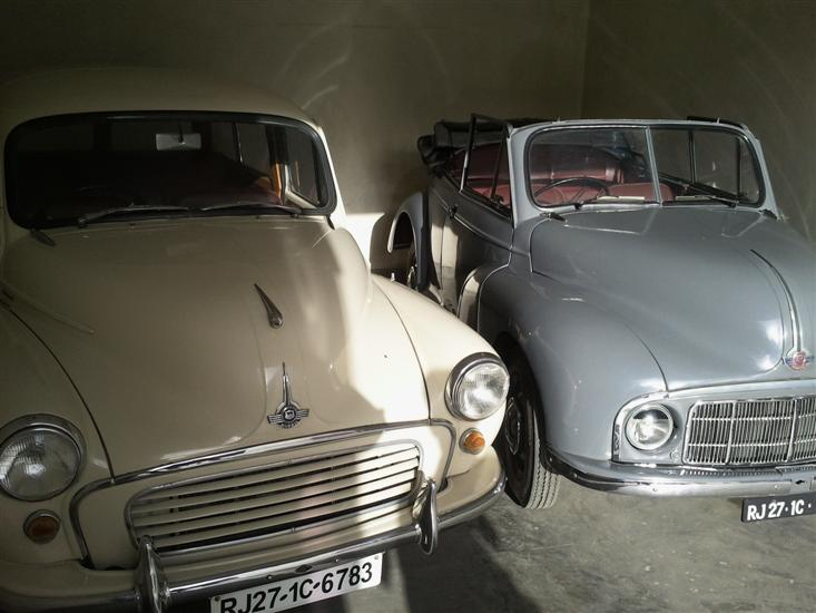 (LEFT)Name of Car: Morris -- Model: Minor 1000 Traveller -- Year of Mfd: 1959 - :: - (RIGHT)Name of Car: Morris -- Model: Tiger -- Year of Mfd: 1950