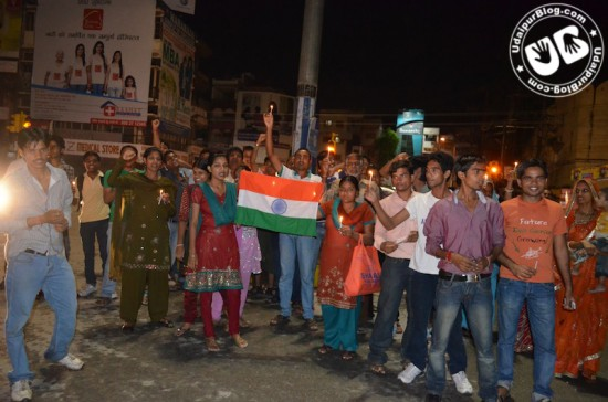 Candle March at Delhi Gate