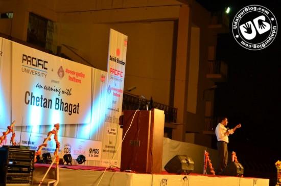 Chetan Bhagat in Udaipur