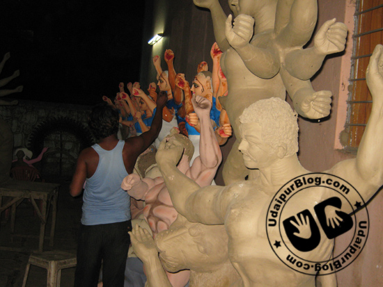 Idol Making Process Durga Puja | UdaipurBlog