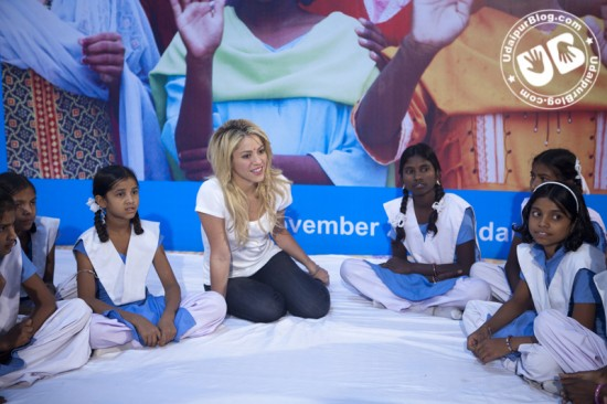 Shakira in Udaipur UNICEF
