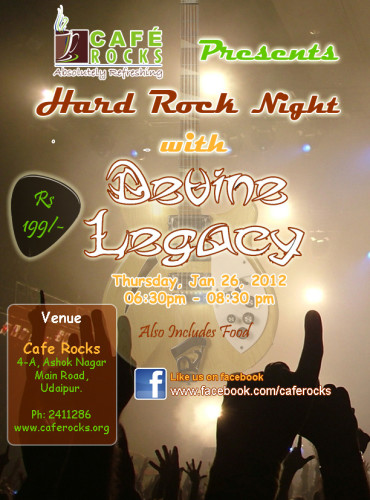 Hard Rock Night with Cafe Rocks and Devine Legacy
