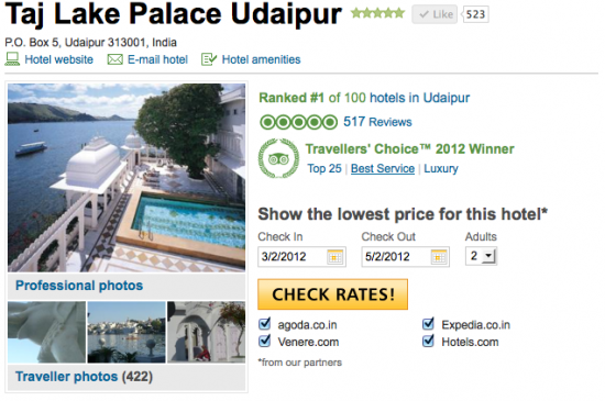 Tripadvisor Taj Lake Palace Review
