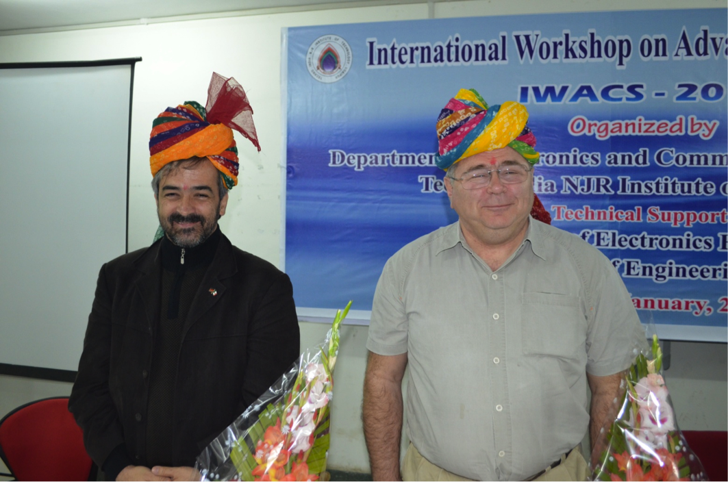 Prof J A Moreno Perez (left) & Prof Leonid Fridman (right) feeling proud to be honoured with the traditional saffa