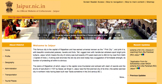 Jaipur City Website