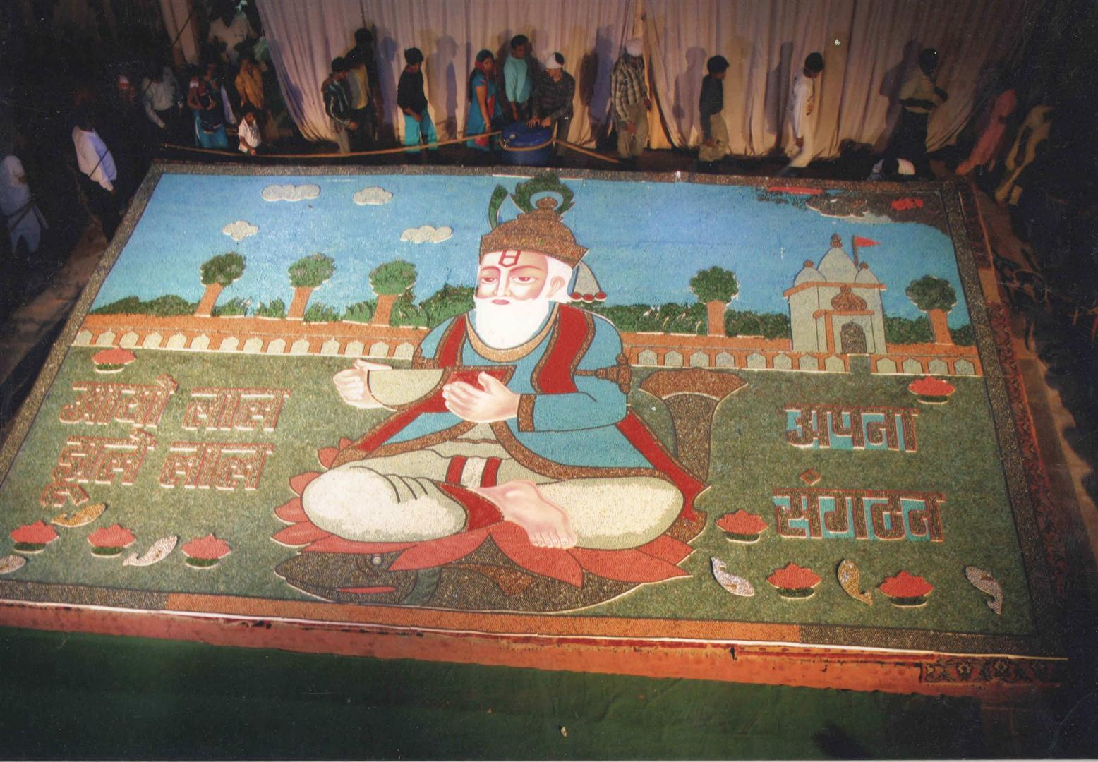 2006 : In this year, a record was created in Limca book which announces that 3 lakh marbles were used in potraying God Jhulelal.