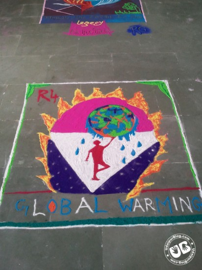 Rangoli Making competition Techno India NJR