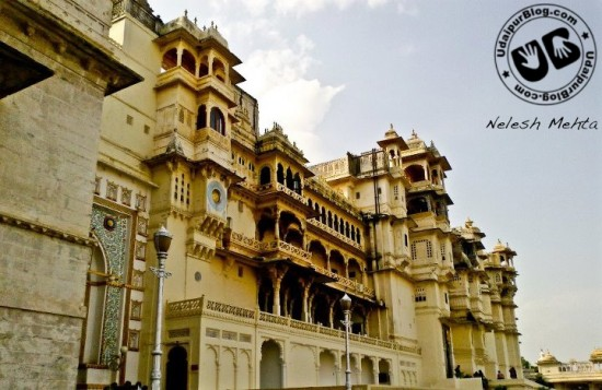 Front view of City palace, Udaipur by Nelesh Mehta