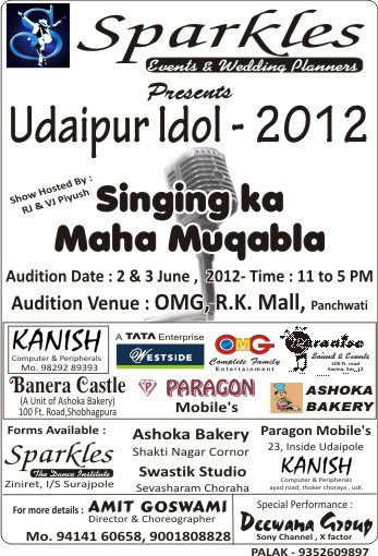The Sparkles Group up with Udaipur Idol 2012