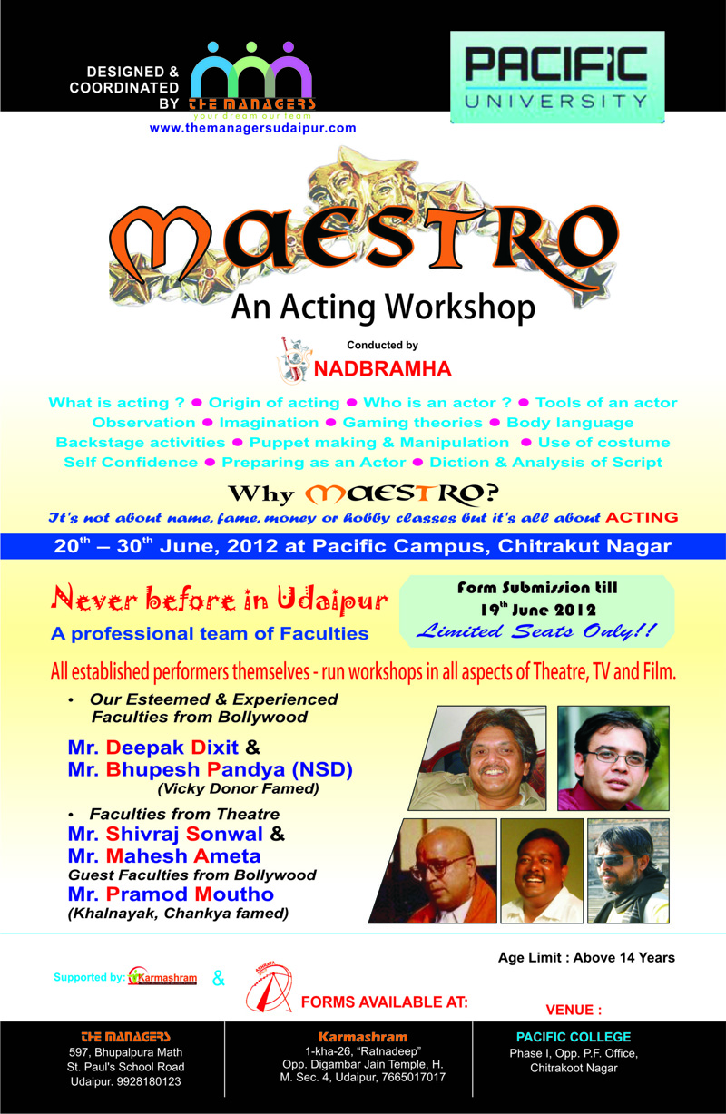 Maestro-workshop | UdaipurBlog