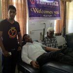 Ajitesh Rai Donating Blood