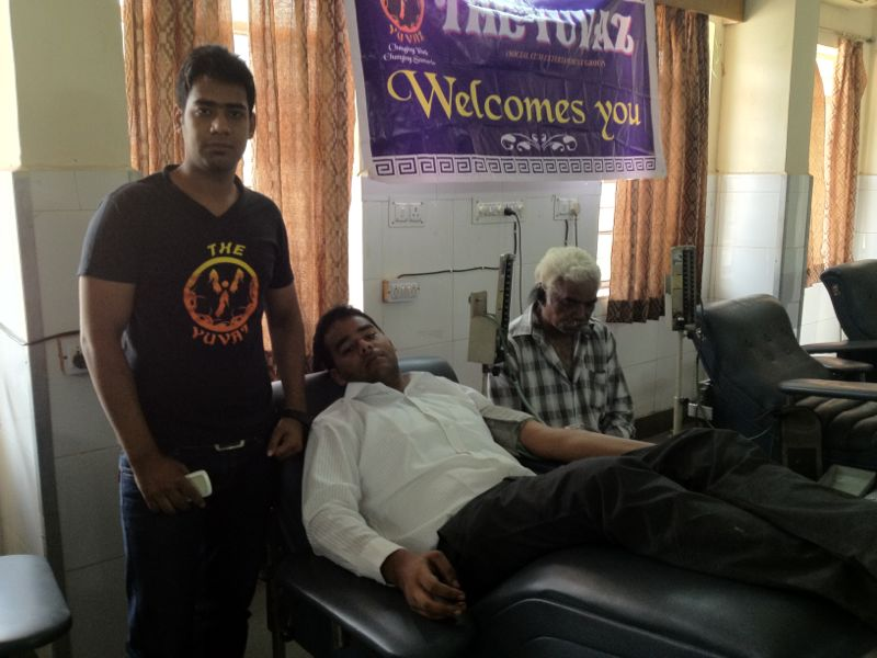 Ajitesh Rai Donating Blood