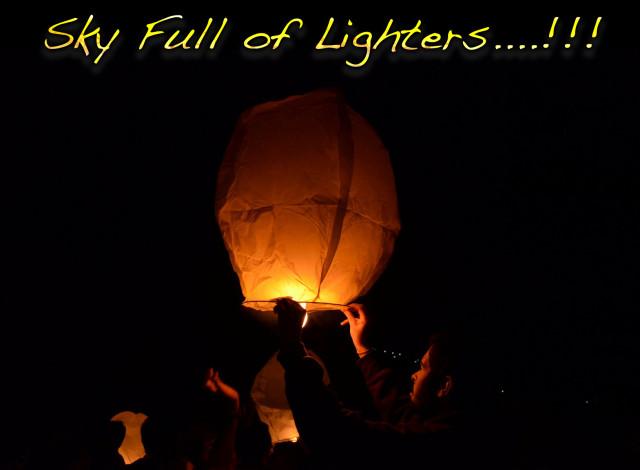 sky full of lighters
