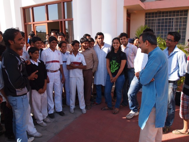 Prof. Shah interacting with the students