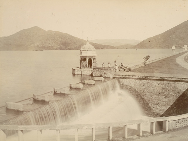 Overflow of the Fatehsager Lake, Udaipur
