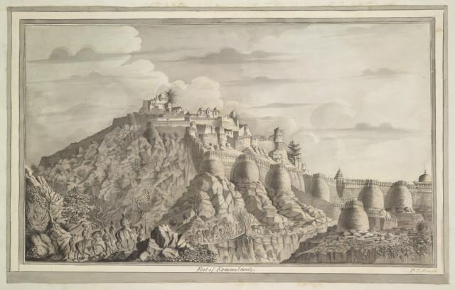 The fortress of Kumbhalgarh in the Aravalli Hills (Mewar)