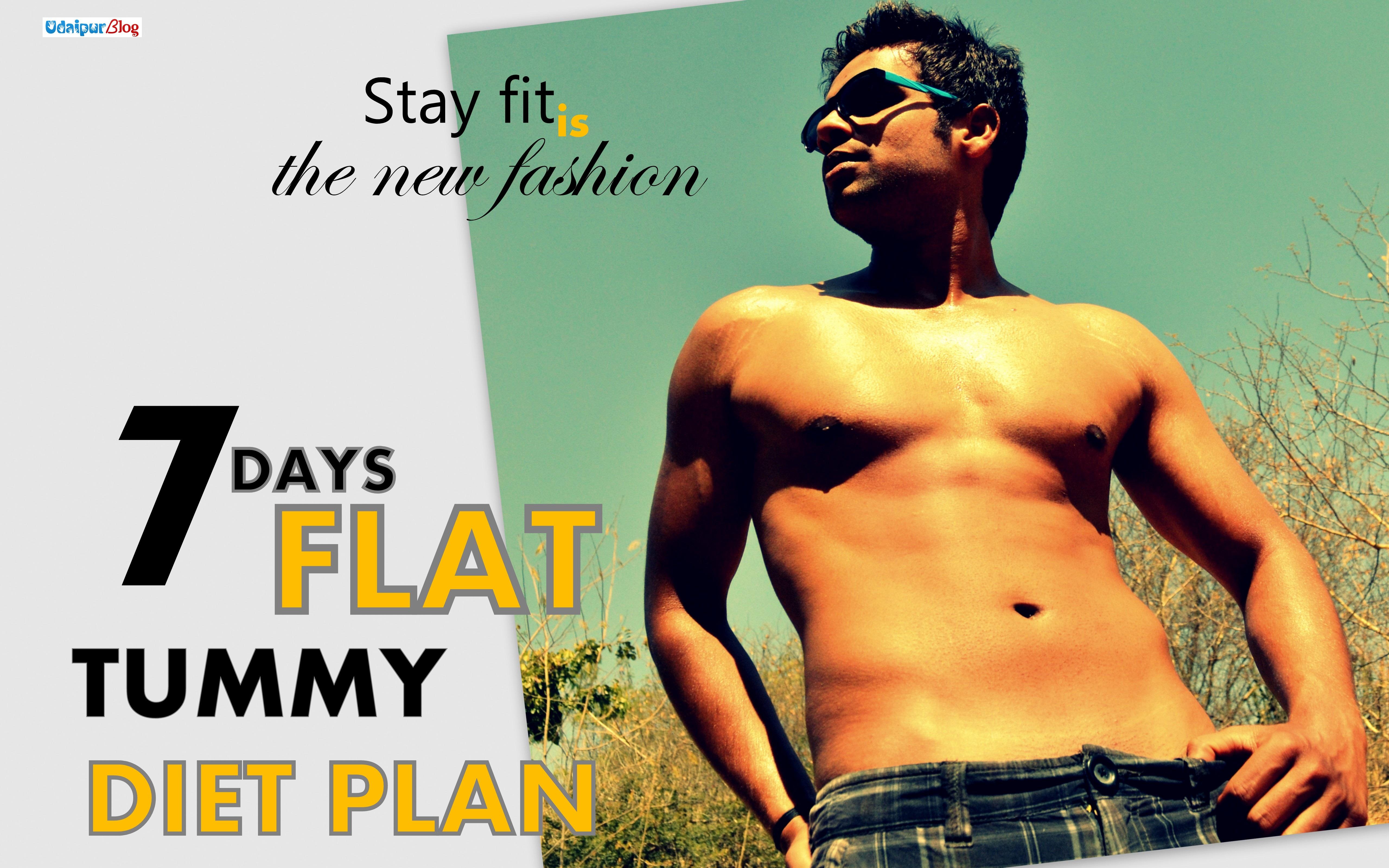7 days for flat tummy