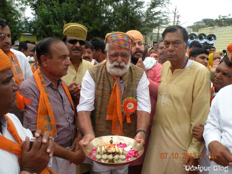 Tej Singh Bansi at Jagannath Dham Sector 7 Udaipur