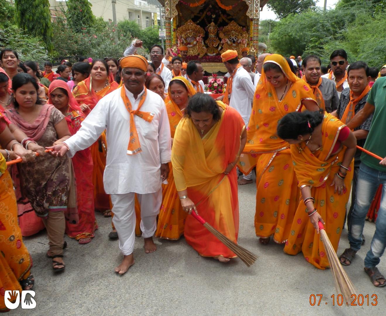 Rajni Dangi in Jagannath Rath Yatra Udaipur