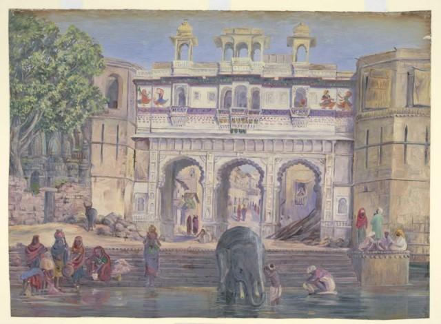 Gangaur Ghat painting in Udaipur
