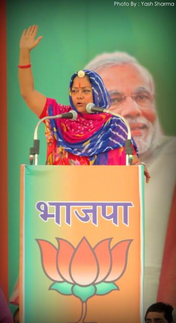 Narendra Modi , Gulab Chand Kataria, Vasundhra Raje, BJP, Ralley, Aam Sabha