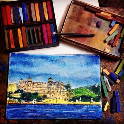 My Love for Udaipur in Paintings ~ Kashish Seth