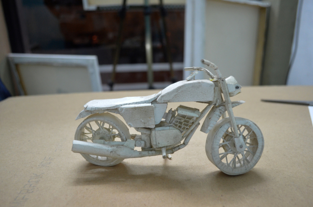 Paper Bike made by Rajesh ji's brother.