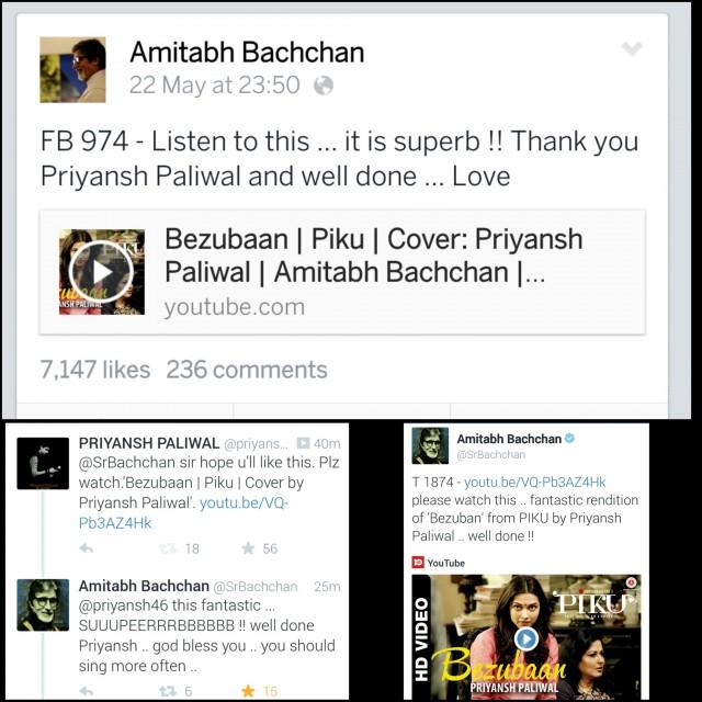 Priyansh admired by Amitabh Bachan