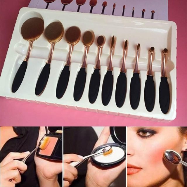 oval brush sets eldee cosmetics