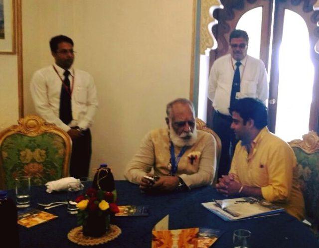 mukesh madhwani with arvind singh ji mewar