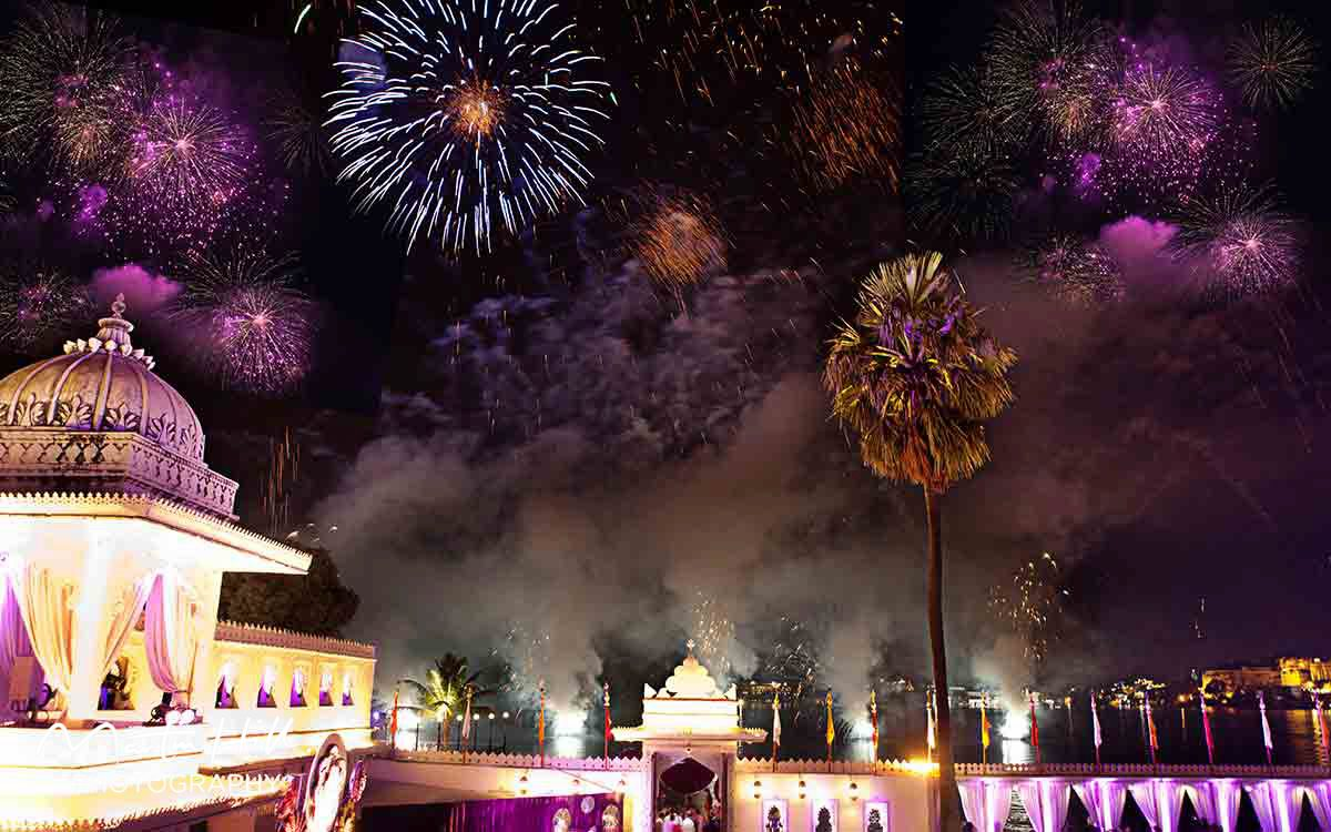 fireworks in udaipur
