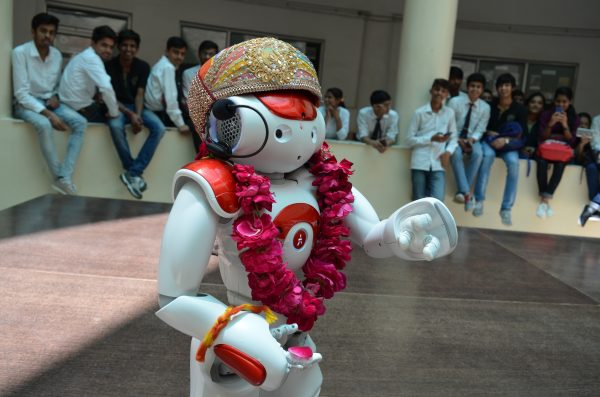 NAO robot in Techno India NJR
